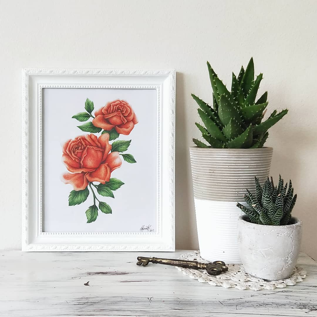 Image of Red Roses - ART PRINT