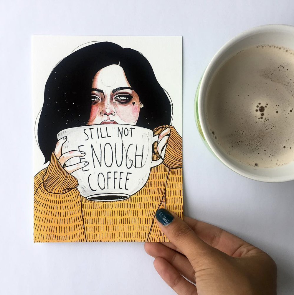 Image of Not enough coffee - FineArt Print (13×18cm)