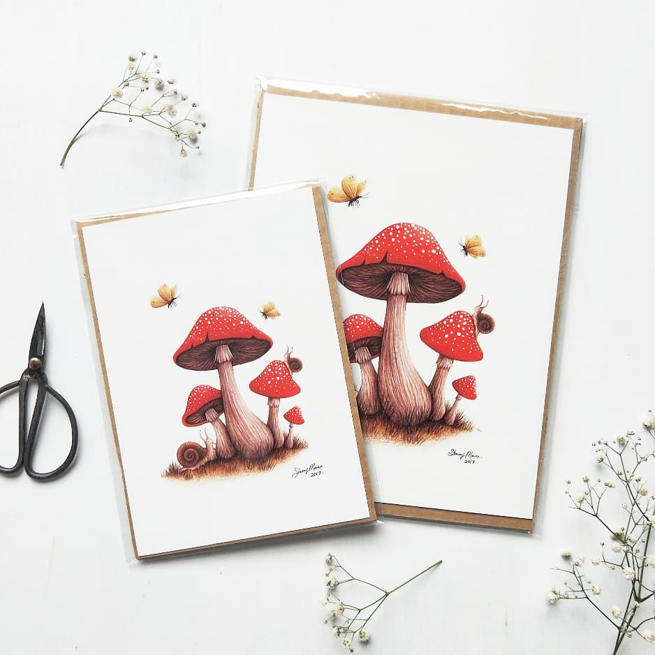 Image of Toadstools -  FINE ART GICLÉE PRINT