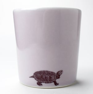 Image of 16oz tumbler with turtle, lilac