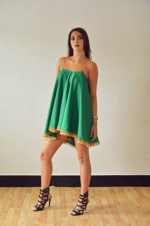 Image of Swing Dress - Green