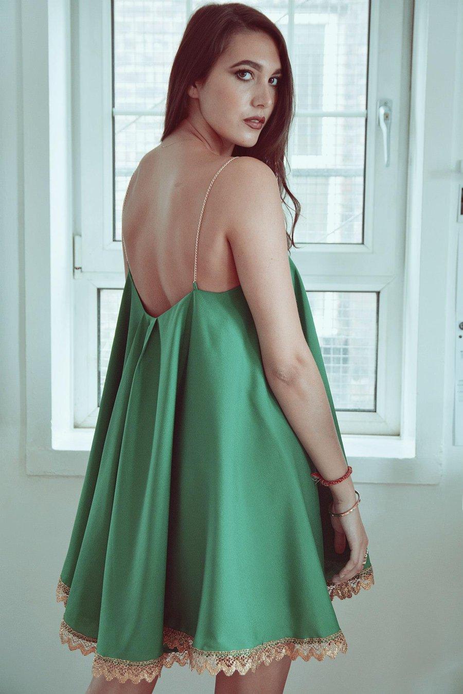 Image of Swing Dress - Green