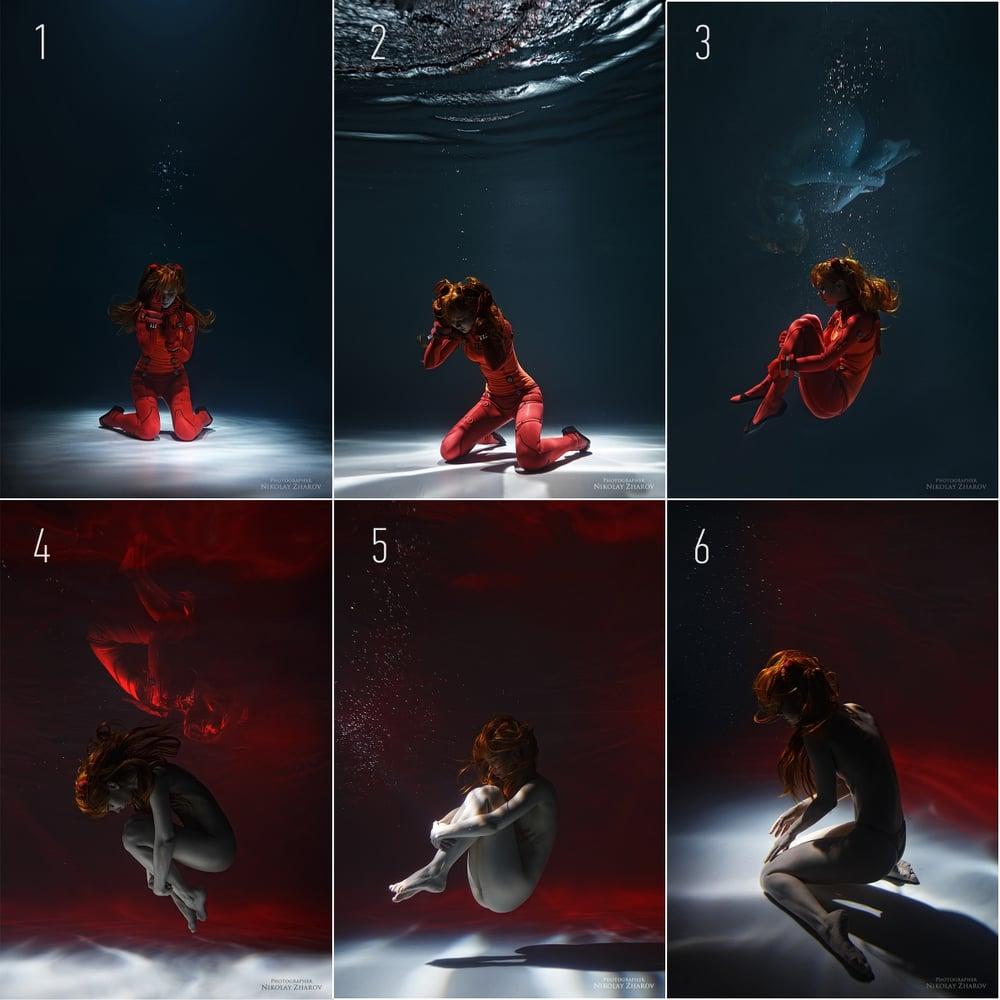 Image of Asuka underwater prints