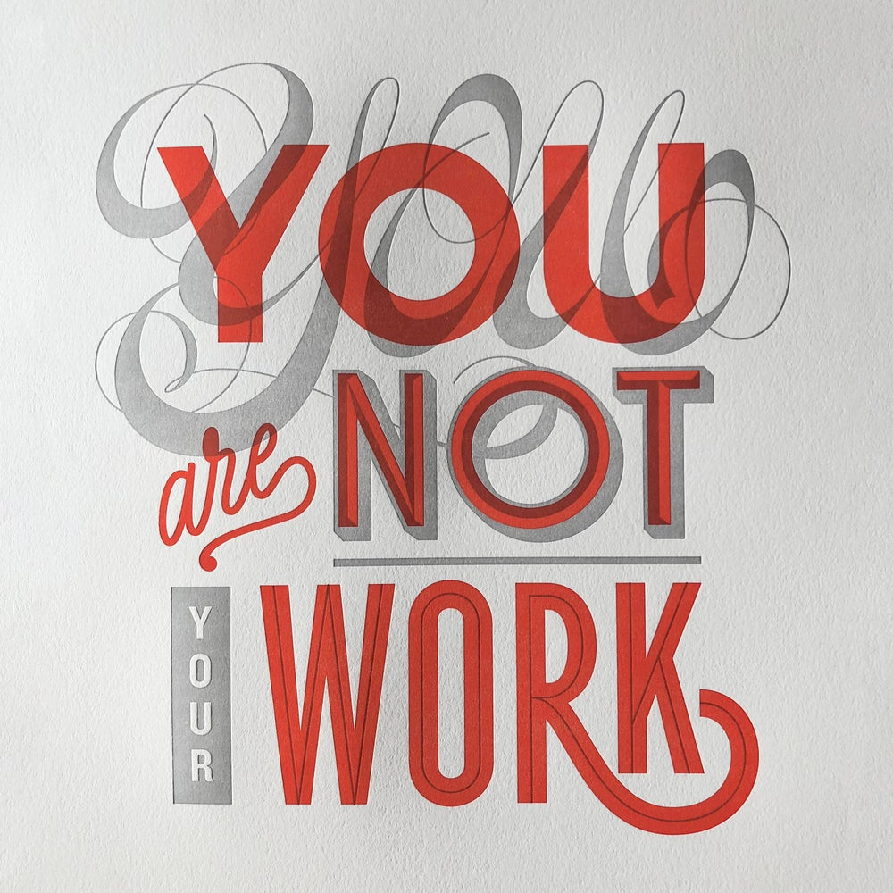 Image of Not Your Work Print