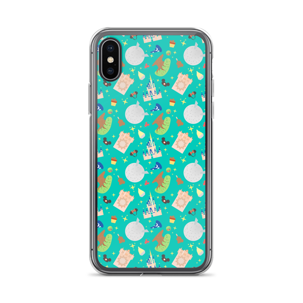 Image of 'The World' Phone Case Teal Back