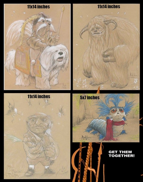 Image of SET of 3 labyrinth art prints