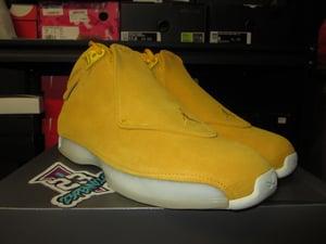 "Image of Air Jordan XVIII (18) Retro ""Yellow Ochre"""