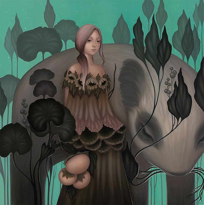 "Image of ""Lea Verdant"" <br>Original Painting <br>by Amy Sol"