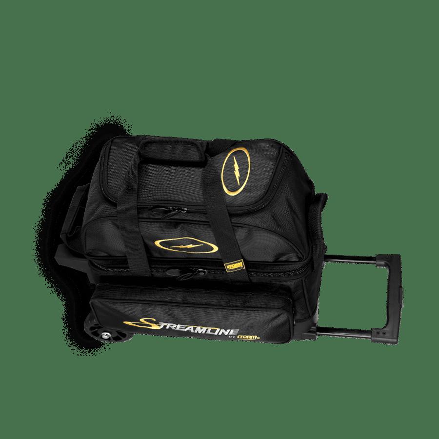 Image of Storm 2 Ball Streamline Roller Bowling Bag Black