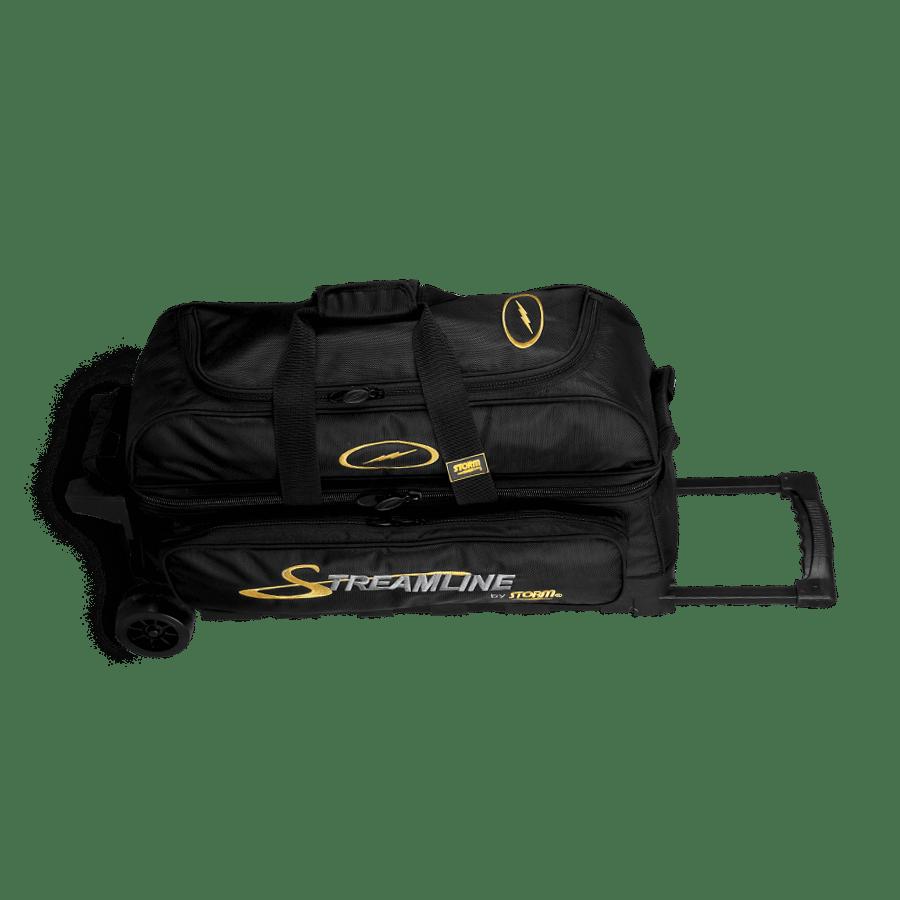 Image of Storm 3-Ball Streamline Roller Bowling Bag Black