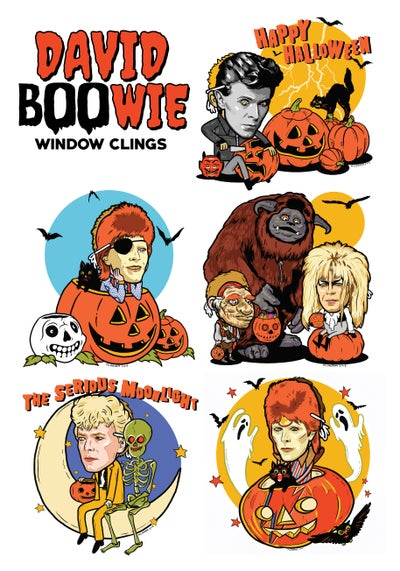 Image of David BOOwie Window Clings (5 Pack)