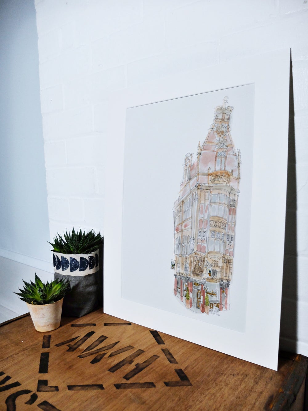 Image of Mr Thomas' Chop House Manchester- A3 Individually Hans painted limited edition print.
