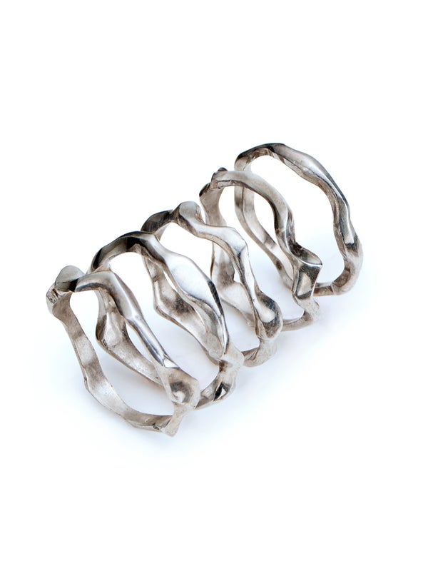 Image of Hand carved organic silver ring