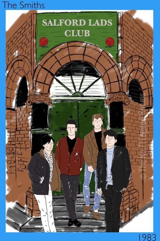 Image of The Smiths Salford Lads 1983