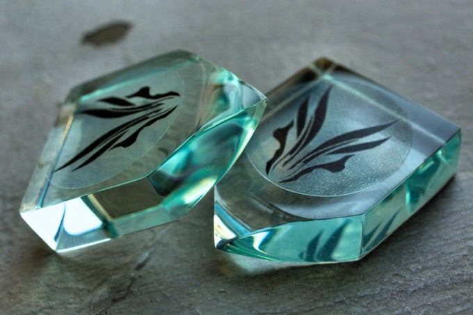 Image of The original 'ERGO ANVIL' cell cast acrylic plectrums!