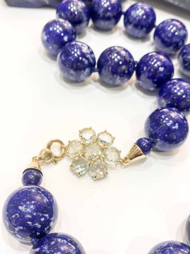 Image of Lapis Lazuli and Blue Topaz Necklace
