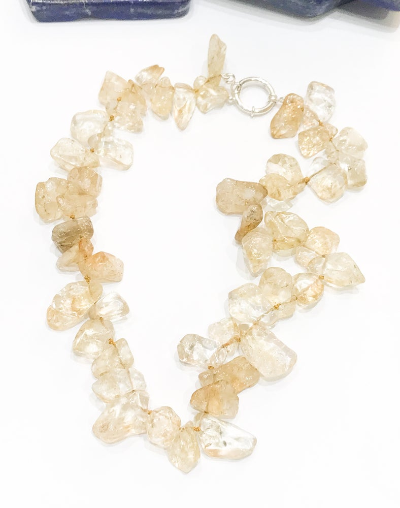 Image of Citrine Chunk Necklace