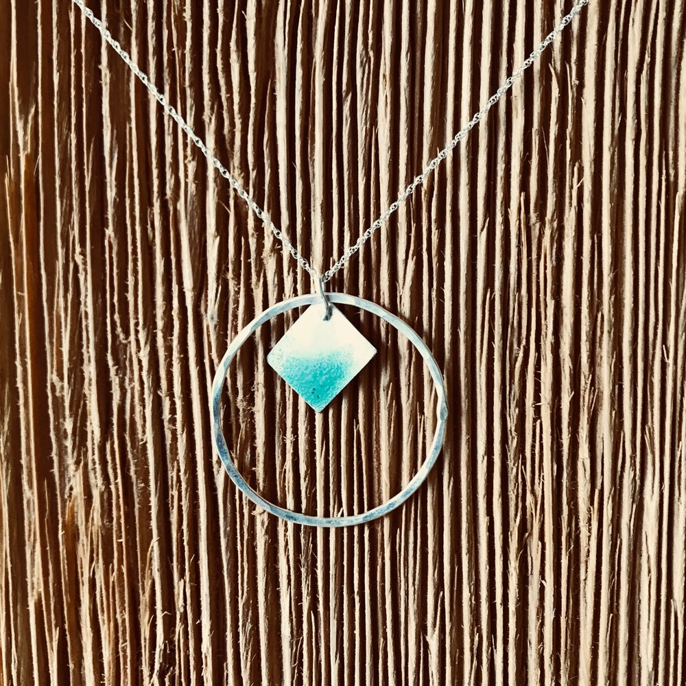 Image of Touch of Turquoise Enameled Necklace