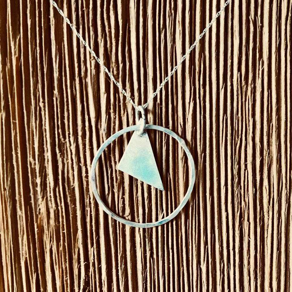 Image of Sea Mist Torch Enameled Necklace