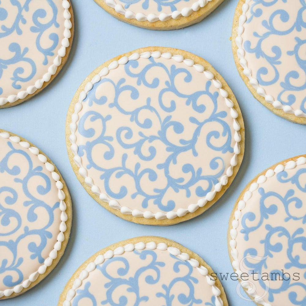 Image of 12 Filigree Cookies - FREE SHIPPING