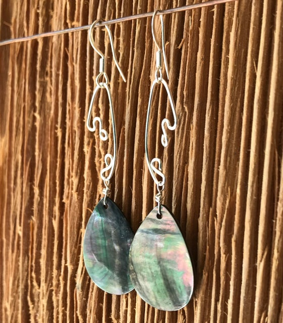Image of Fish Lure Inspired Earrings- Abalone