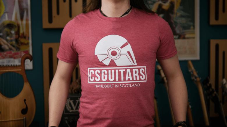 Image of CSGuitars Logo T-shirt Cardinal