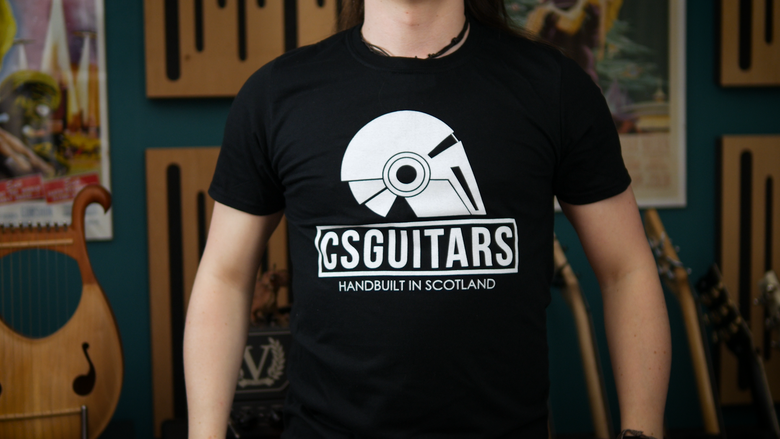 Image of CSGuitars Logo T-shirt Black