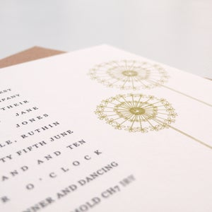 Image of Wedding invitations - Dandelion