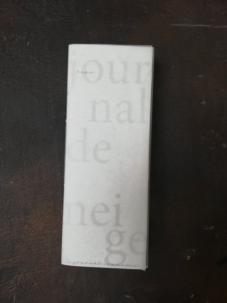 Image of Journal de neige