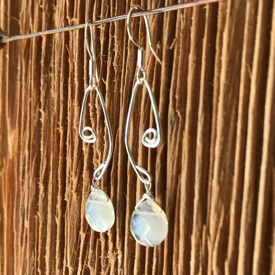 Image of Fish Lure Inspired Earrings- Opal crystals
