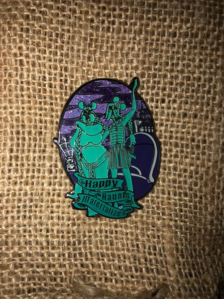 "Image of ""Happy Haunts Materialize"" Enamel Pin"