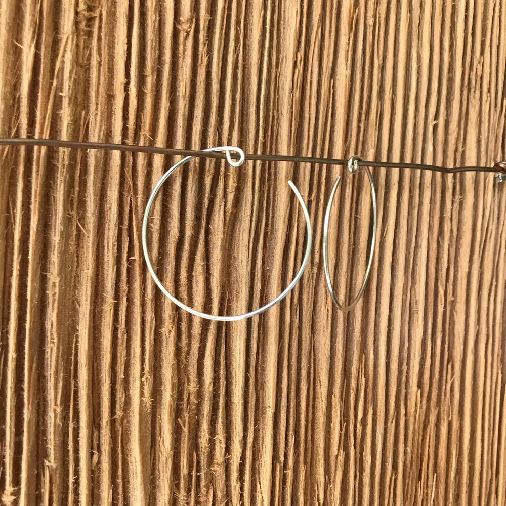 Image of Sterling Silver Hoops