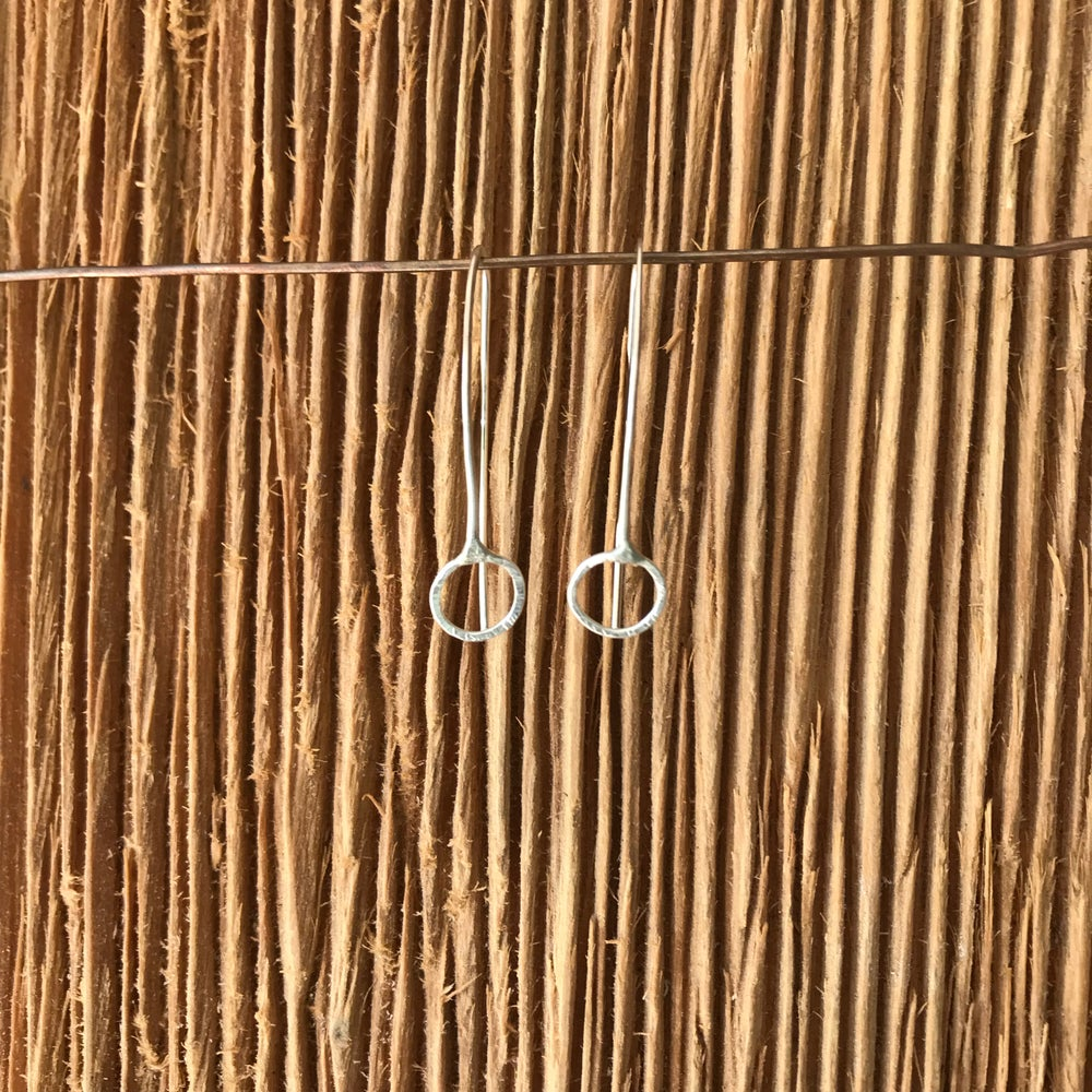 Image of Modern mini circle earrings