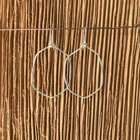 Image of Organic Silver hoops