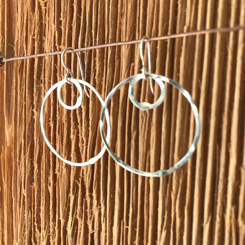 Image of Shape Series- Two circles earrings