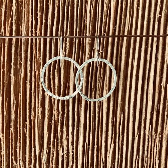 Image of Medium Soldered circle earrings