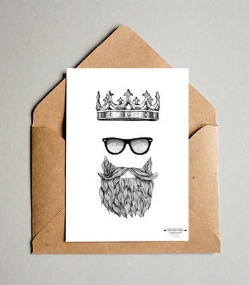 Image of Bearded King - Limited Edition Print and FREE Greeting Card