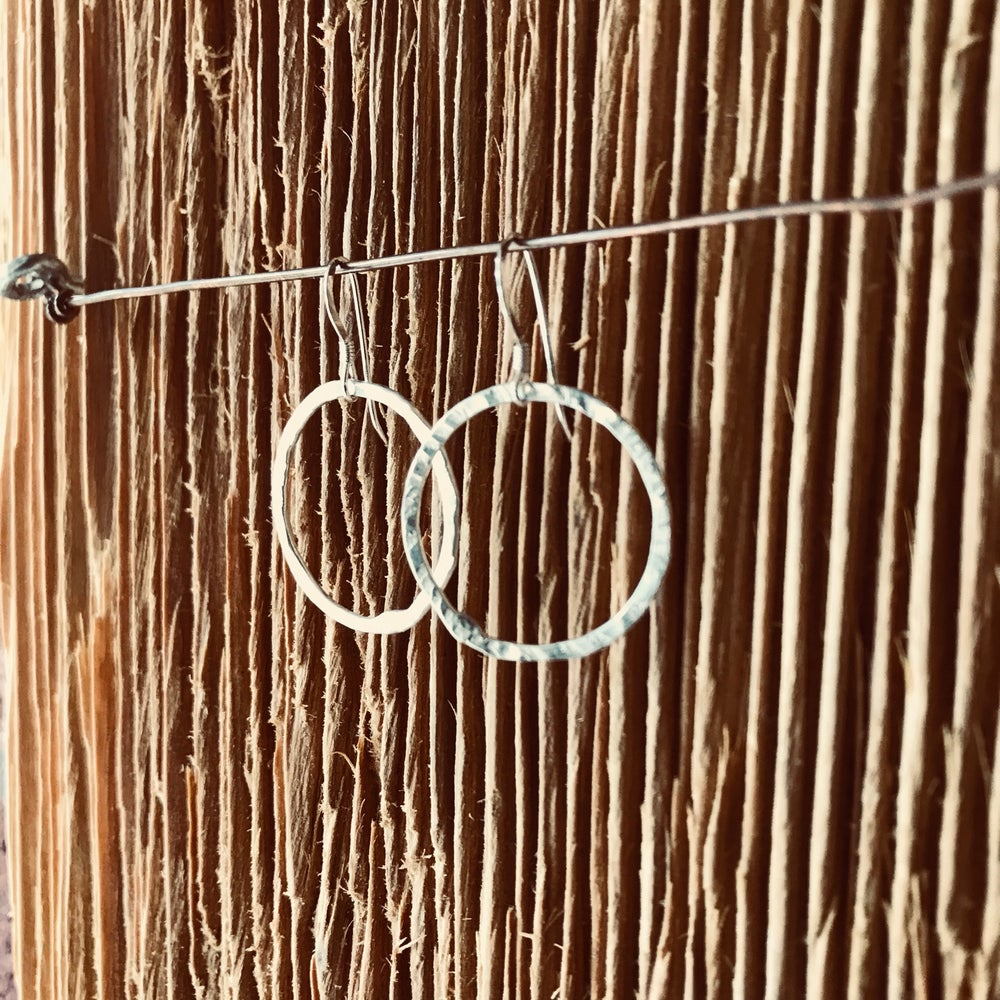 Image of Medium Soldered circle earrings