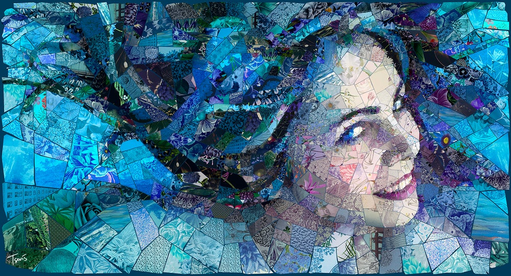"Image of APHRODITES ""My Venus - my Medusa"" (Limited edition digital mosaic on canvas)"