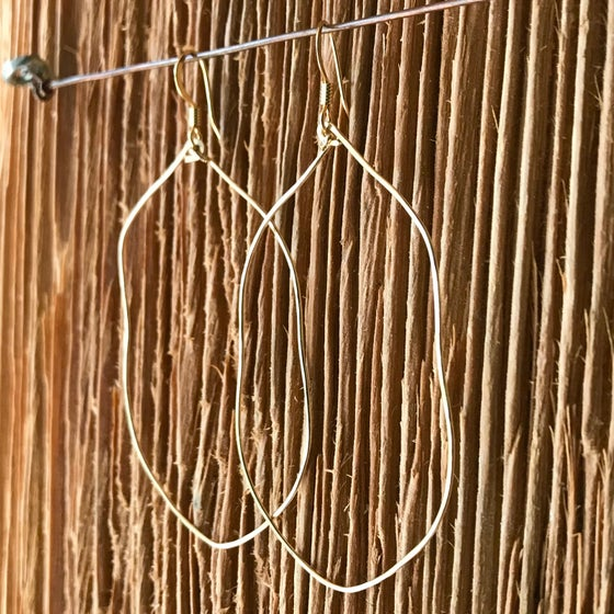 Image of 14 K Gold Filled Organic Hoops