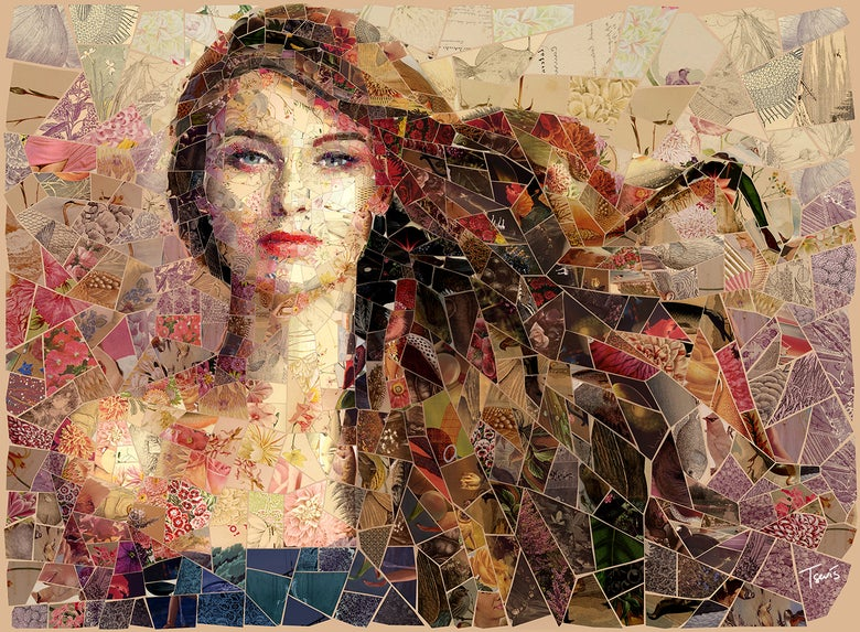 "Image of APHRODITES ""Summer breeze"" (Limited edition digital mosaic on canvas)"