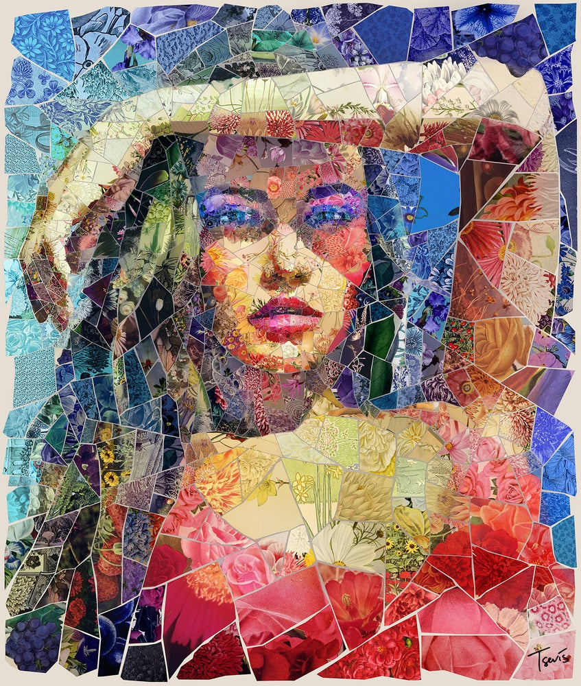 "Image of APHRODITES ""Salty watermelon"" (Limited edition digital mosaic on canvas)"