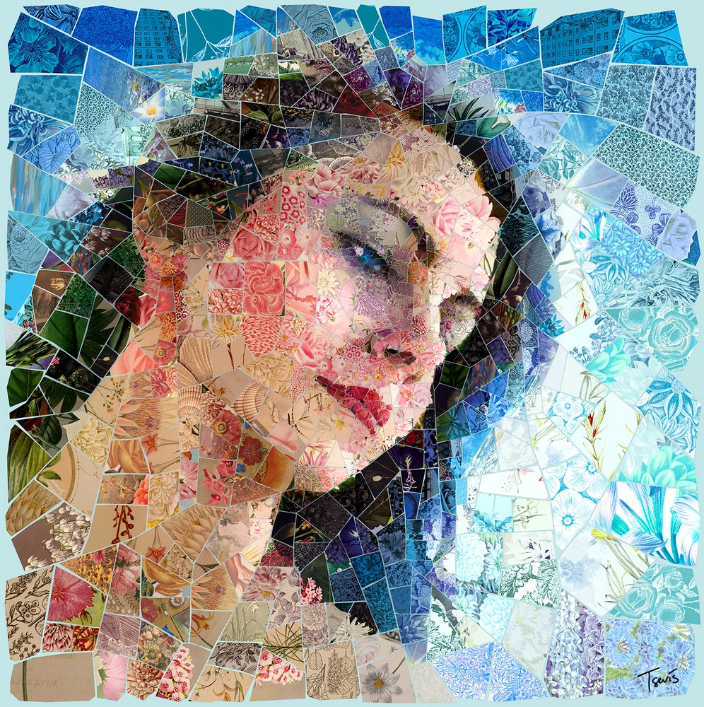 "Image of APHRODITES ""Aphrodite bouquet"" (Limited edition digital mosaic on canvas)"