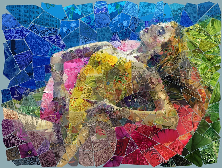 "Image of APHRODITES ""Last summer's lust"" (Limited edition digital mosaic on canvas)"