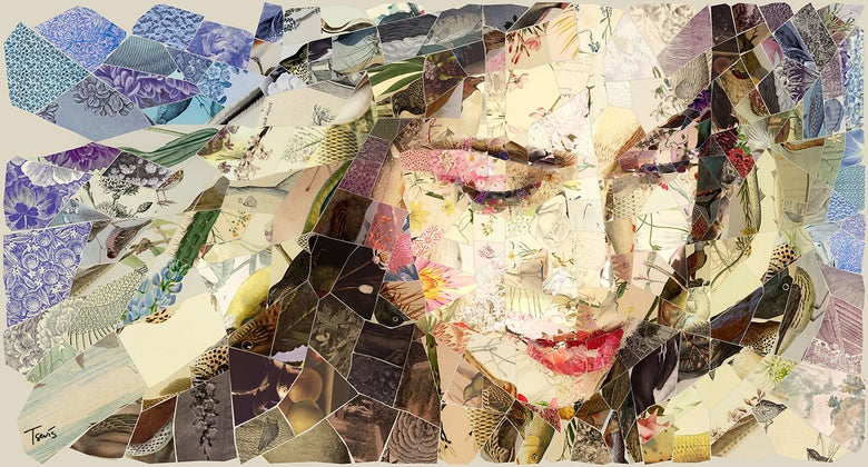"Image of APHRODITES ""Summer ride"" (Limited edition digital mosaic on canvas)"