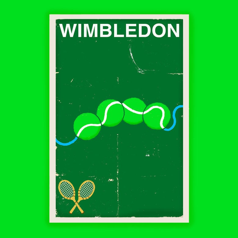 Image of Wimbledon Tennis Poster - Version A