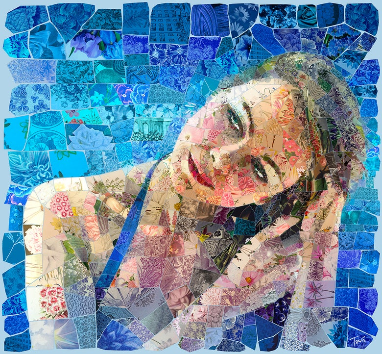 "Image of APHRODITES ""Almyra"" (Limited edition digital mosaic on canvas)"