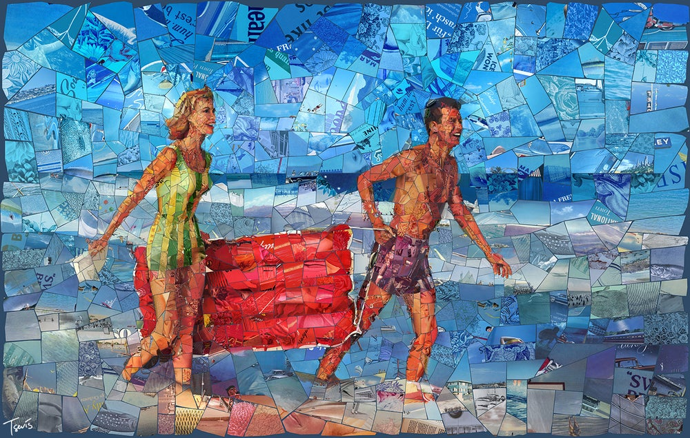 "Image of ENDLESS SUMMER ""I still see it all"" (Limited edition digital mosaic on canvas)"