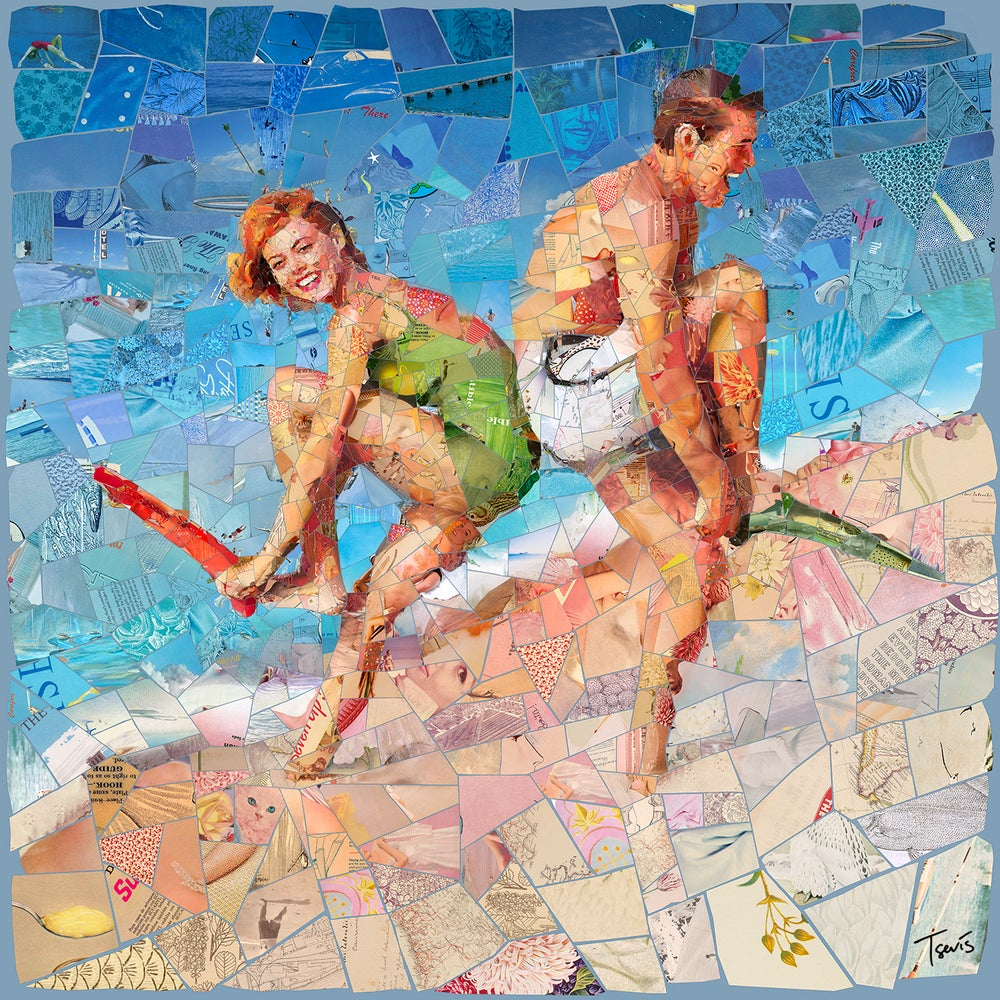 "Image of ENDLESS SUMMER ""Remember we played together"" (Limited edition digital mosaic on canvas)"
