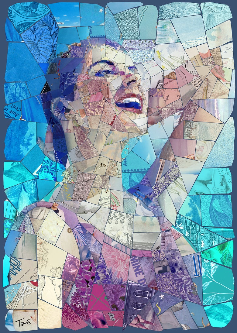 "Image of ENDLESS SUMMER ""Calling you"" (Limited edition digital mosaic on canvas)"